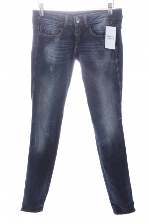 Benetton Skinny Jeans blau Casual-Look