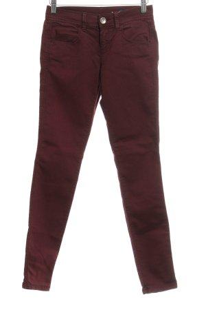 Benetton Skinny Jeans karminrot Casual-Look
