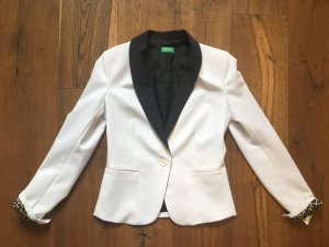 Benetton Smoking Blazer mit Futter in Leo Optik