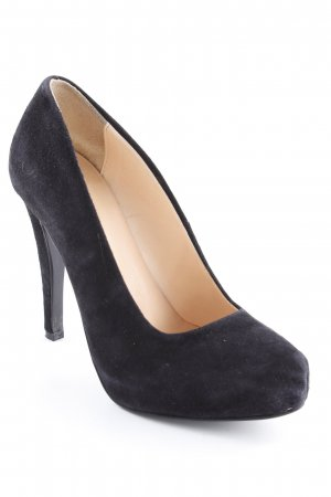Benetton Spitz-Pumps schwarz Business-Look