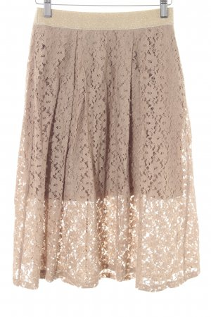 Benetton Lace Skirt beige-gold-colored romantic style