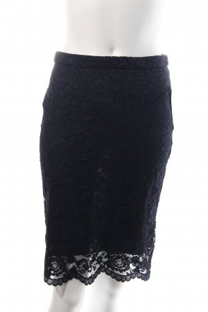 Benetton Lace Skirt dark blue elegant