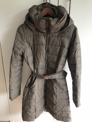 Benetton Quilted Coat olive green