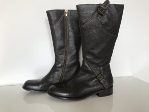 Benetton Heel Boots dark brown