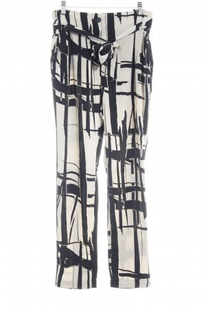 Benetton Jersey Pants oatmeal-black abstract pattern extravagant style