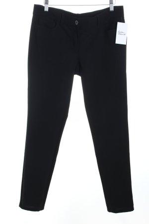 Benetton Stoffhose schwarz klassischer Stil