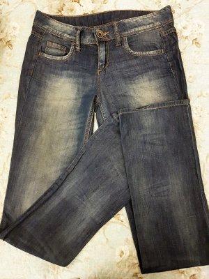 BENETTON Straight Jeans, Größe 27, Dunkelblau