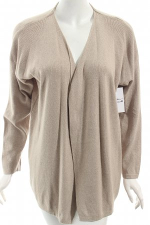 Benetton Strick Cardigan beige meliert Casual-Look