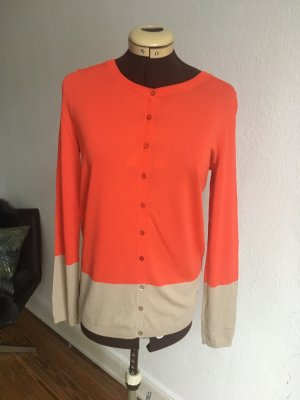 United Colors of Benetton Veste en laine orange fluo-beige clair viscose