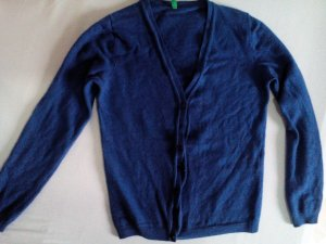 Benetton Strickjacke in Royal-Blau
