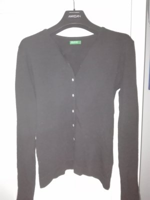 Benetton Strickjacke schwarz