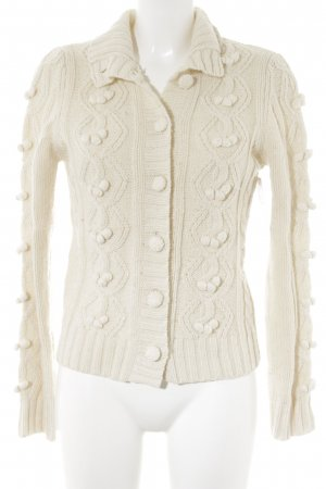 Benetton Cardigan natural white fluffy