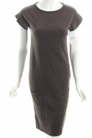 Benetton Strickkleid dunkelbraun Casual-Look