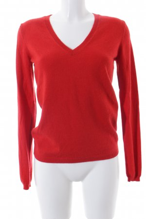 Benetton Strickpullover rot Casual-Look