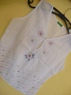 ♥BENETTON:super schöne Bluse/Shirt/ärmellos mit Pailletten, besonders, Gr. S/36