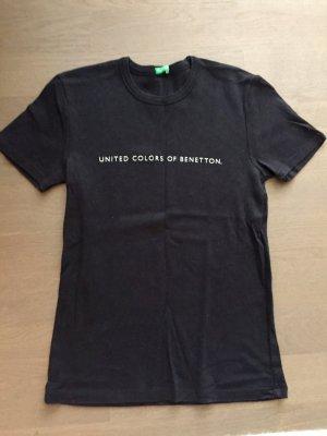 Benetton T-shirt, Gr. S, Schwarz