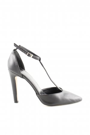 Benetton T-Steg-Pumps schwarz Business-Look