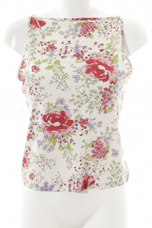 Benetton Tank Top floral pattern romantic style