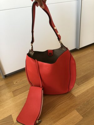 Benetton Sac à main rouge brique
