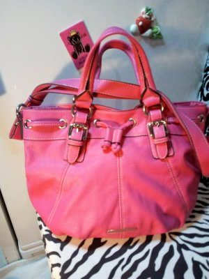 Benetton Carry Bag pink imitation leather