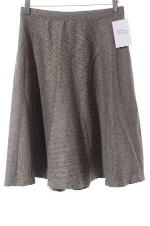 Benetton Falda circular marrón claro-gris look casual