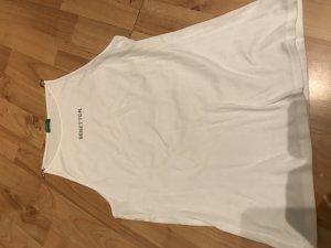 Benetton Top in Weiß Gr. L mit Strass