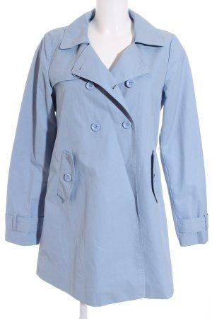 Benetton Trenchcoat hellblau klassischer Stil