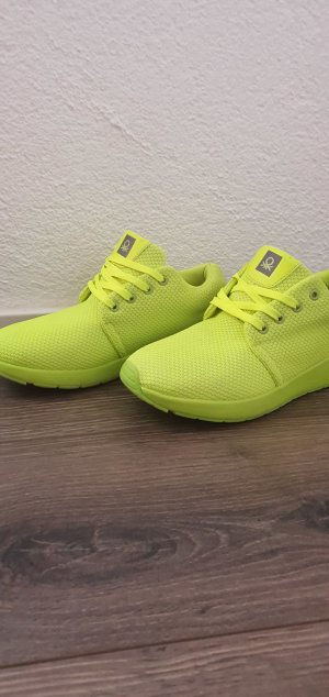 Benetton Lace-Up Sneaker lime yellow