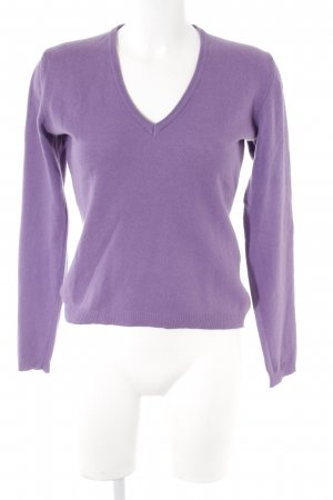 Benetton V-Neck Sweater blue violet casual look