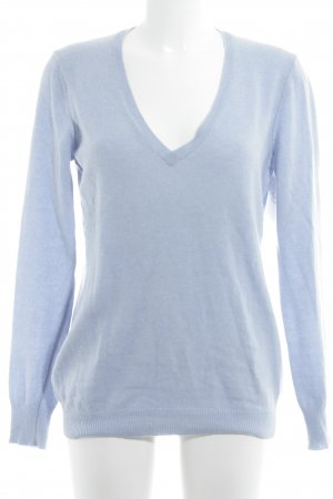 Benetton V-Neck Sweater azure casual look