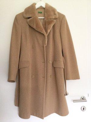 BENETTON Vintage Beige Mantel Coat Jacke