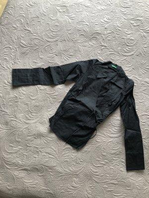 Benetton Blusa cruzada negro