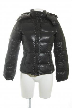 Benetton Winterjacke anthrazit Glanz-Optik