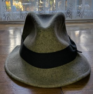 Benetton Woolen Hat silver-colored wool