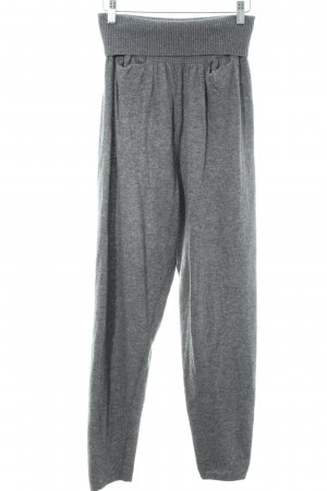 Benetton Wollhose grau meliert Casual-Look