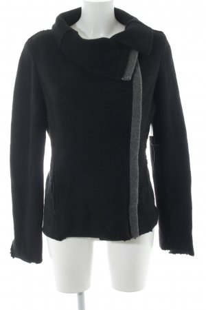 Benetton Wolljacke schwarz-grau Casual-Look