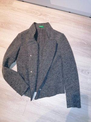 Benetton Giacca di lana grigio
