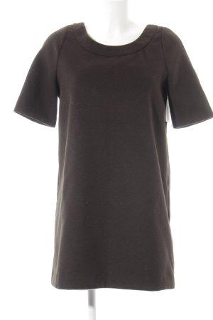 Benetton Vestito di lana marrone scuro stile casual