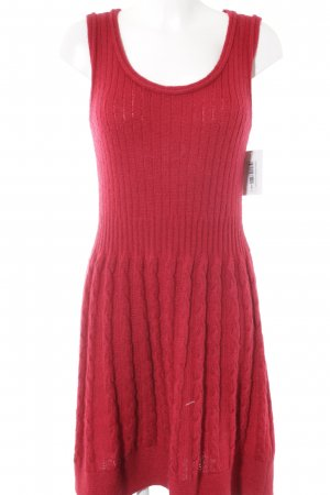 Benetton Wollkleid rot Casual-Look
