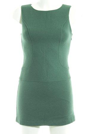 Benetton Vestido de lana verde bosque look casual