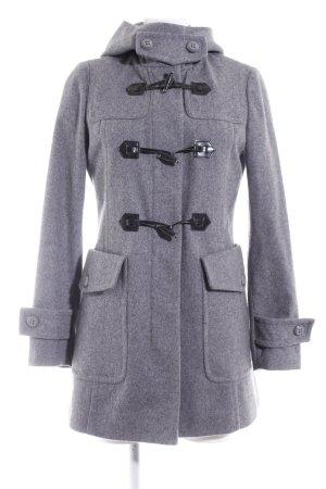 Benetton Cappotto in lana grigio-nero puntinato stile casual