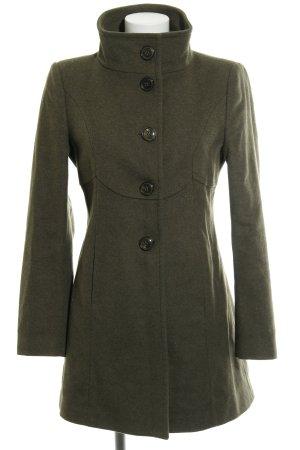 Benetton Cappotto in lana cachi stile classico