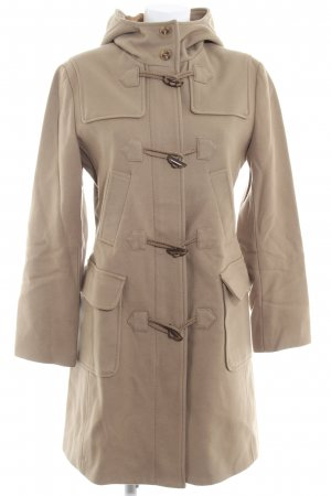 Benetton Cappotto in lana sabbia stile casual
