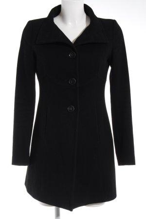 Benetton Abrigo de lana negro look «Brit»