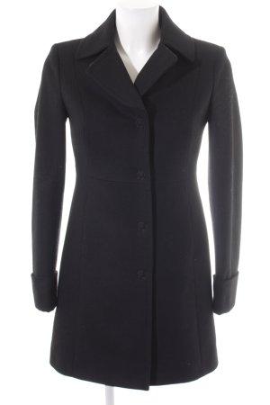 Benetton Cappotto in lana nero stile classico