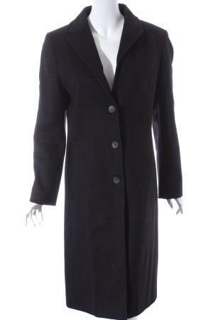 Benetton Wollmantel schwarz klassischer Stil