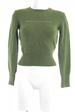 Benetton Wollpullover grasgrün Casual-Look