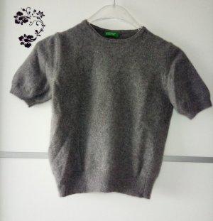 Benetton Wollpullover Grau Gr. 34