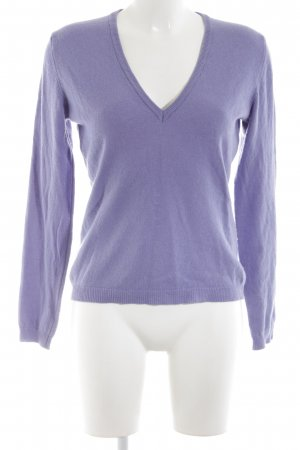 Benetton Wollpullover lila Business-Look