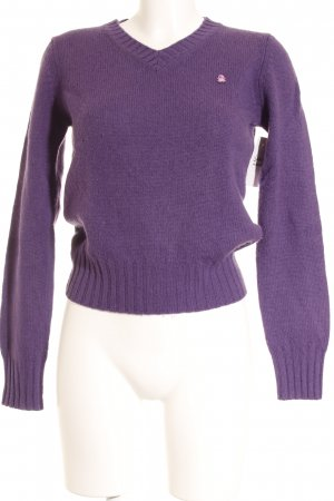 Benetton Wollpullover lila Casual-Look